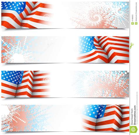 fourth of july banners stock illustration image 41486923