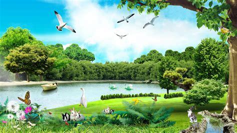 beautiful summer day  lake hd wallpaper hd latest