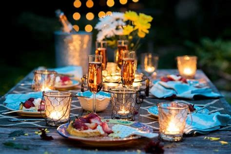 put   romantic table setting family holiday