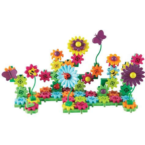 Set Floral 116 Busui Quality build bloom flower garden gears set learning resources