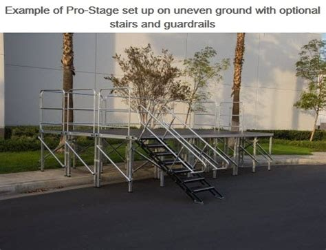 288 square feet 288 square foot stage 12 feet x 24 feet stage system 9
