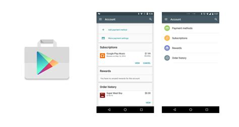 Play Store Account Updates Play Store Accounts Screen With A New Design