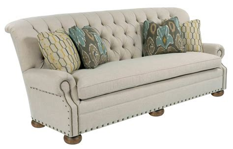 Traditional 96 Inch Button Tufted Sofa With Rolled Back Tufted Nailhead Sofa