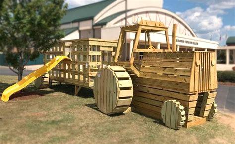 farm tractor play set plan  kids pauls playhouses