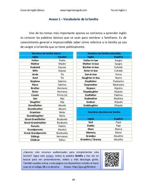 imagenes para aprender ingles basico yes en ingles 1 ingles basico curso de ingles con