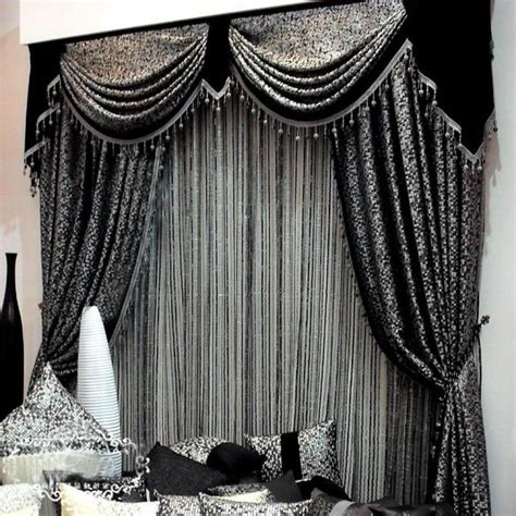designer curtains black color curtain design for contemporary living room
