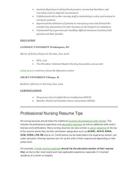 How To Write A Registered Resume by Professional Nursing Resume Resume Badak