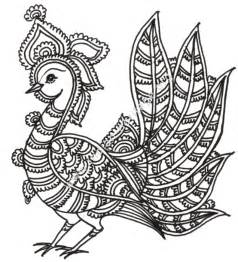 Designs Motifs From Kalamkari Style Of Painting Designs