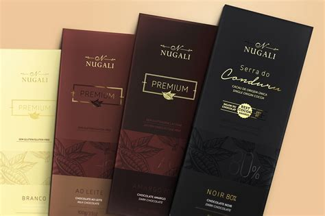 Premium Packaging premium chocolate bars nugali on packaging of the world