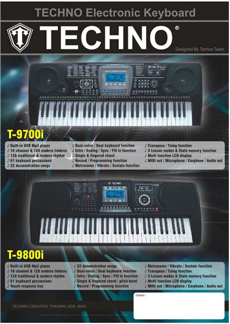 Keyboard Techno T5000 one stop entertainment keyboard murah fitur maksimal