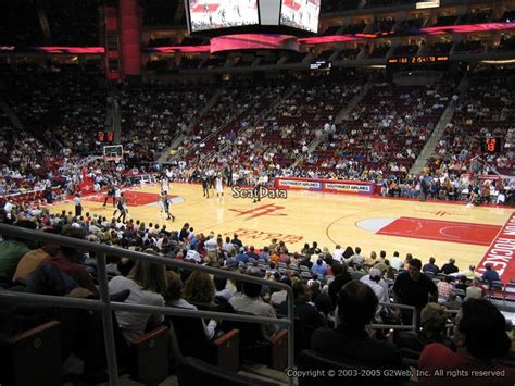 Best Seats At Toyota Center Houston Toyota Center Section 105 Houston Rockets