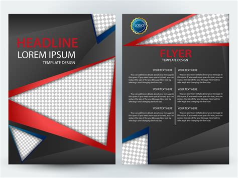templates flyer corel flyer template design with checkered black background free