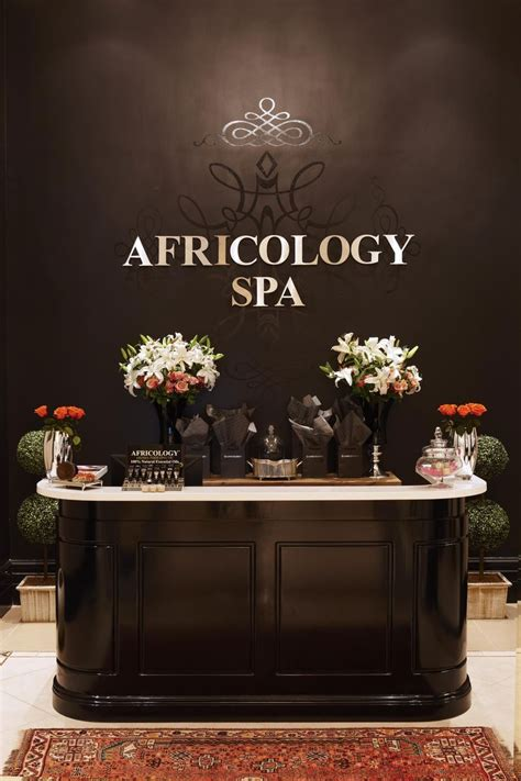 beauty salon reception desk reception area at the africology spa africology spa at