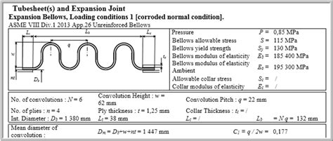 asme section viii appendix 8 02 capability to design thin bellow expansion joints as