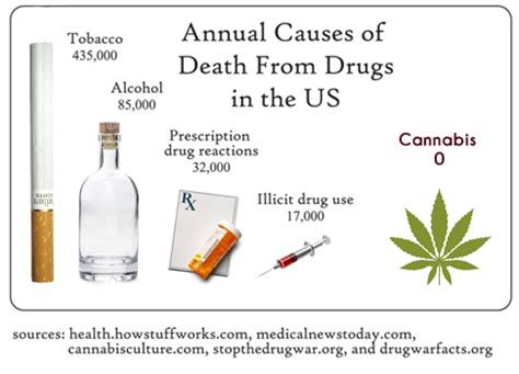 Recorded Deaths From Marijuana Marijuana Vs Tobacco Vs Which One Gets To Be Illegal Privateseeds