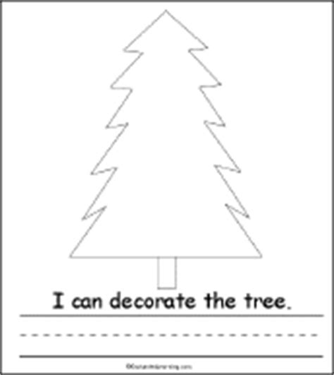 decorate your own christmas tree worksheet tree activity early reader book enchantedlearning