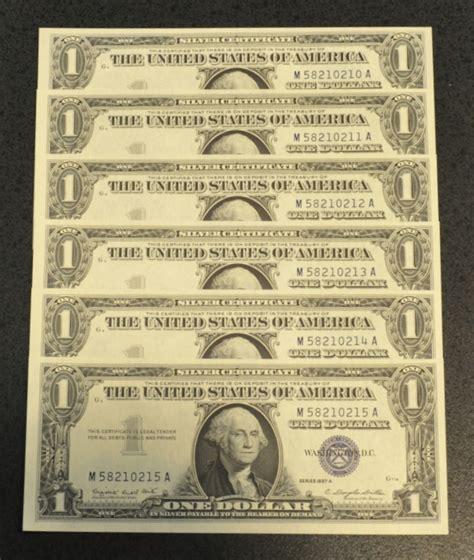 1957 Silver Certificate No Letter 1957 A 1 Silver Certificate Crisp Uncirculated