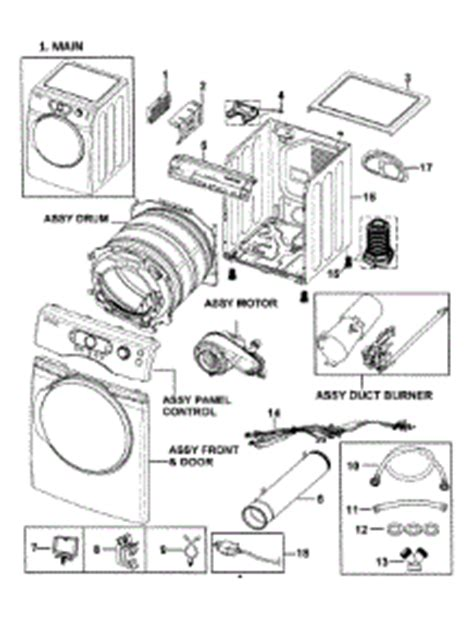 samsung dryer parts diagram parts for samsung dv338agb xaa 0000 dryer
