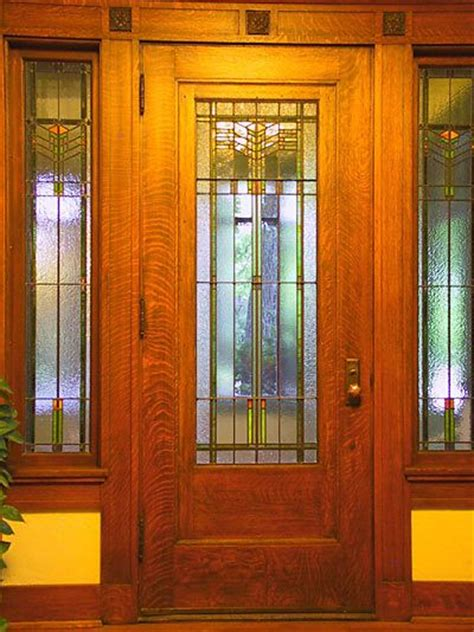 Arts And Crafts Front Door Arts And Crafts Period Included Craftsman Style Prairie Mission Style Nouveau Style Do