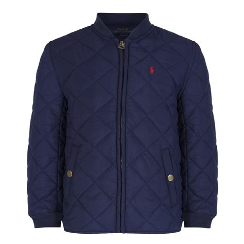 Boys Quilted Coat by Ralph Boys Navy Quilted Jacket Ralph From