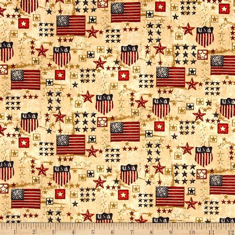Quilting Fabric Usa by Patriotic White Blue Discount Designer Fabric