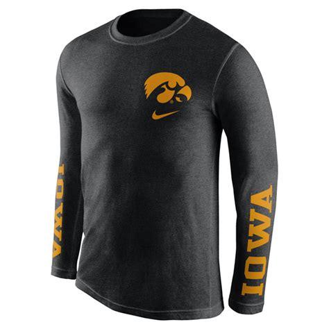 Men39s Nike Iowa Football Loong Sleeve T Shirt 100 Original iowa hawkeyes tri fresh sleeve