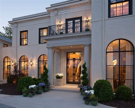home exterior decorative accents exterior arched windows exterior traditional with potted