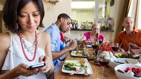 texting at the dinner table when you can and definitely can t use your phone at the