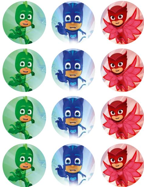 printable edible images for cakes pj masks edible image cupcake toppers