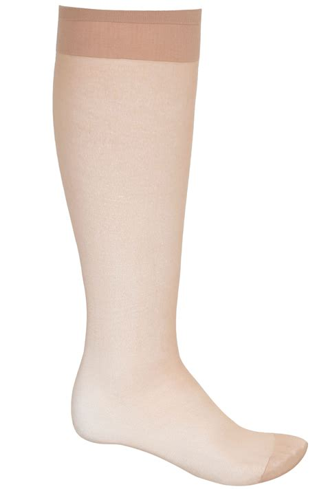 international comfort products customer service 3 pack natural sheer knee high socks with comfort top