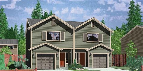 narrow lot duplex house plans narrow lot duplex house plans 2 bedroom duplex house plan d 503