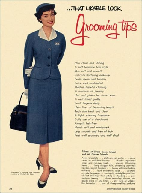 1950s Grooming Guide For Women | pan am style grooming tips alameda point antiques faire blog