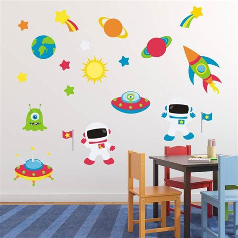 space stickers for walls astronauts in space wall sticker by mirrorin
