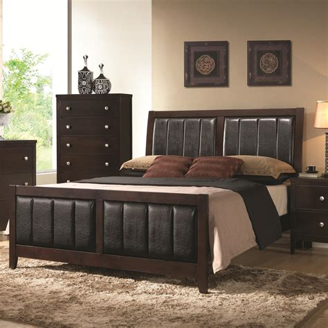 Value City Furniture East Brunswick Nj by Coaster Carlton Upholstered California King Bed With Paneled Upholstery Value City Furniture