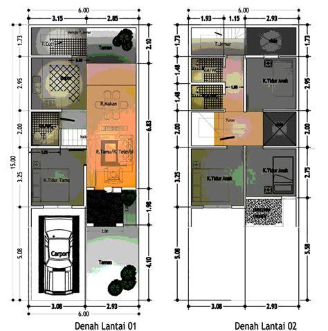 contoh denah rumah minimalis desainrumahsederhana