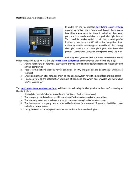 best home alarm companies reviews by pual watkins issuu
