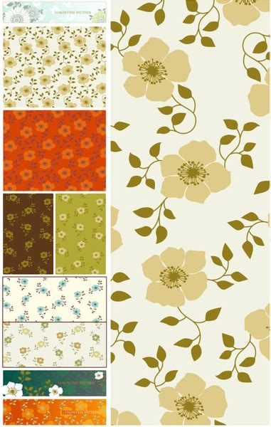 adobe illustrator flower pattern flower pattern vector collections free vector in adobe