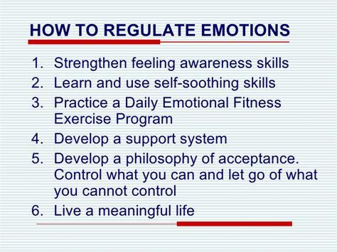 self comforting behaviors emotional regulation lecture