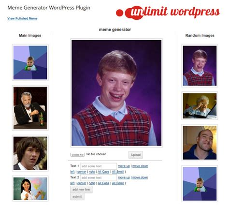 Facebook Meme Generator - meme generator wordpress plugin by jordanbanafsheha