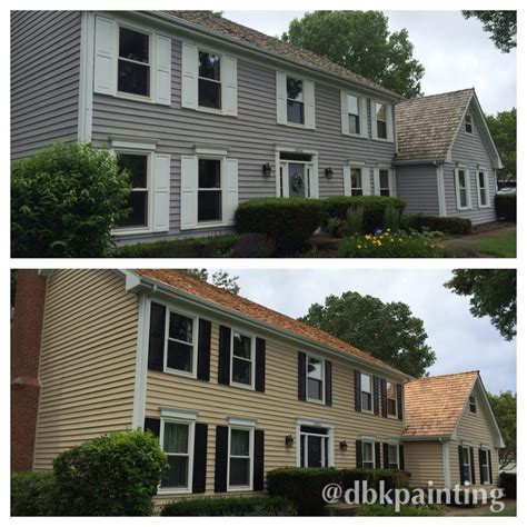 arborcoat colors exterior cedar siding re paint before and after using