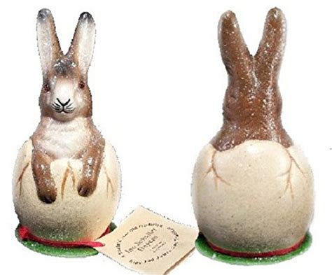 paper mache bunny kids glitter easter glitter embellished bunny figurines easter wikii