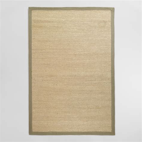 Grey Jute Rug by Gray Bordered Chunky Woven Jute Rug World Market