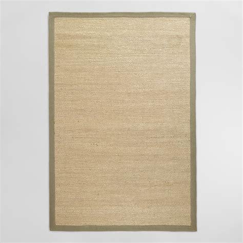 grey jute rug gray bordered chunky woven jute rug world market