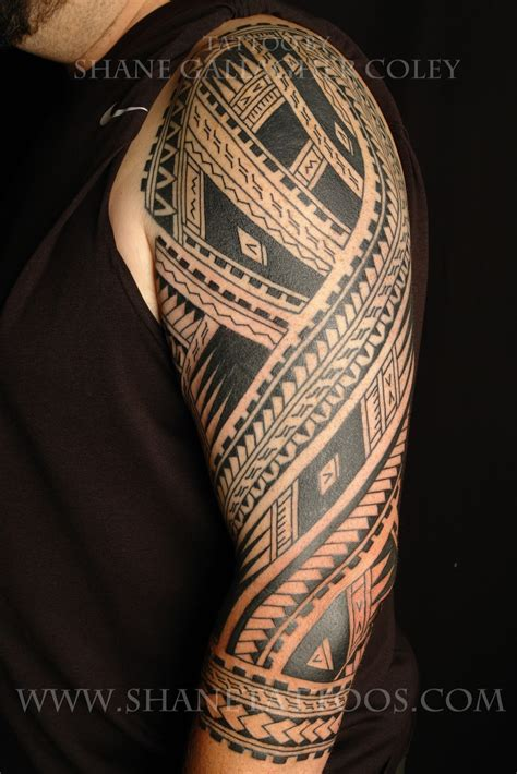 tribal sleeve tattoo meanings shane tattoos polynesian sleeve