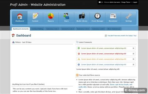 free css templates for admin panel 40 free and premium admin html css website templates ginva
