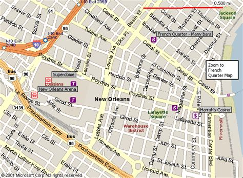 map new orleans new orleans map free printable maps