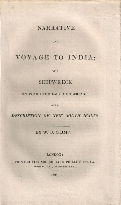 narrative of a voyage to india of a shipwreck on board the castlereagh and a description of new south wales classic reprint books narrative of a voyage to india of a shipwreck on board