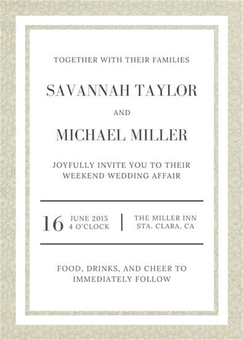 wine and gold template wedding invitation card sle customize 1 381 wedding invitation templates canva