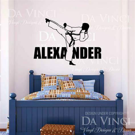 decals for room karate martial arts wall room personalized custom name vinyl wall decal sticker ebay