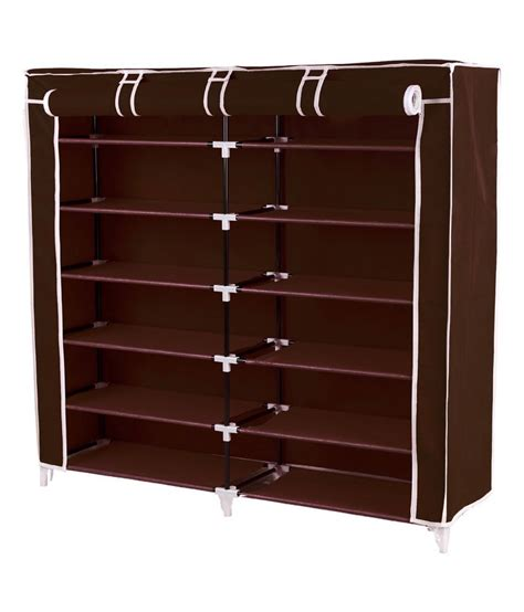 pindia brown 6 layer shoe rack organizer buy pindia